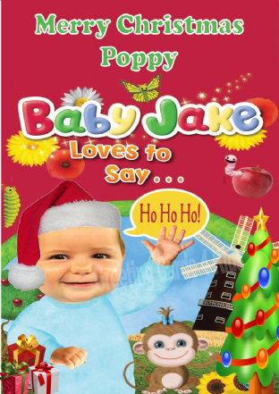 Personalised Baby Jake Christmas Card